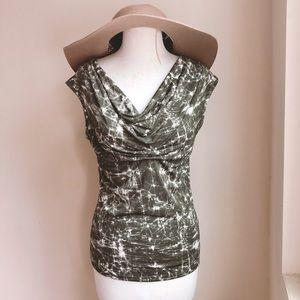 Michael Kors Tie Dye Print Cowl neck Knit Tee